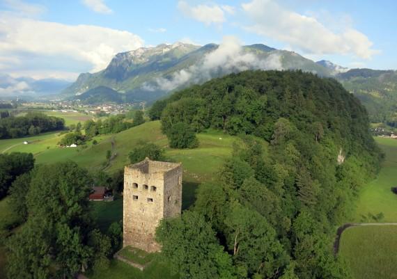 Luftaufnahme Gemeinde Oberriet, St. Gallen
