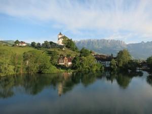 Werdenberg Luftaufnahme, Schloss Werdenberg und Werdenberger See