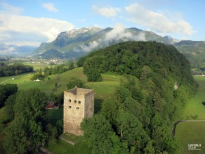 Luftaufnahme Oberriet Burgruine