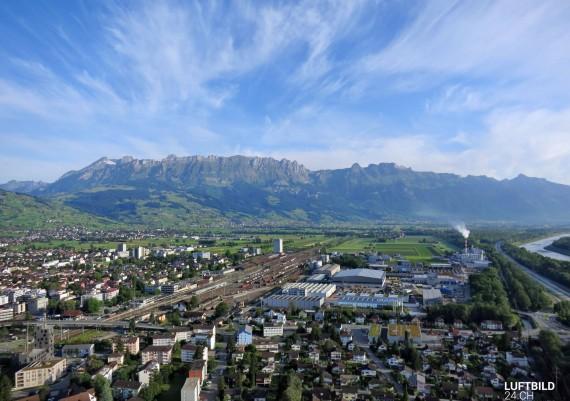 Luftaufnahme Buchs, St. Gallen