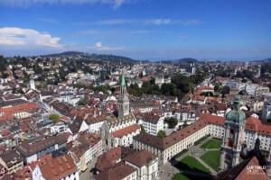 Luftaufnahme in St.Gallen, Fürstabtei
