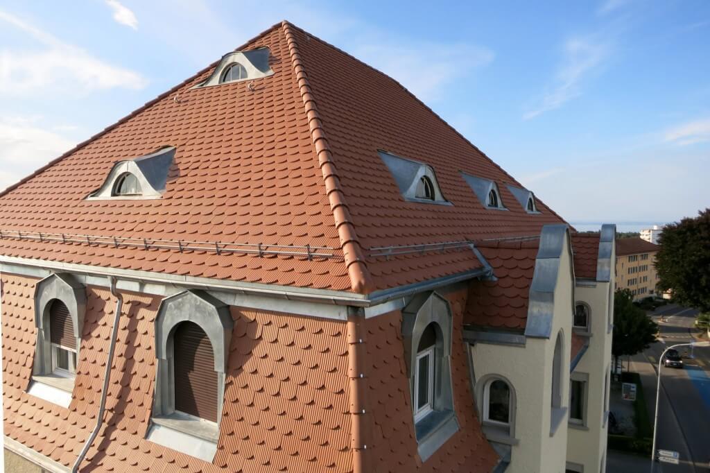 Luftaufnahme Hausdach
