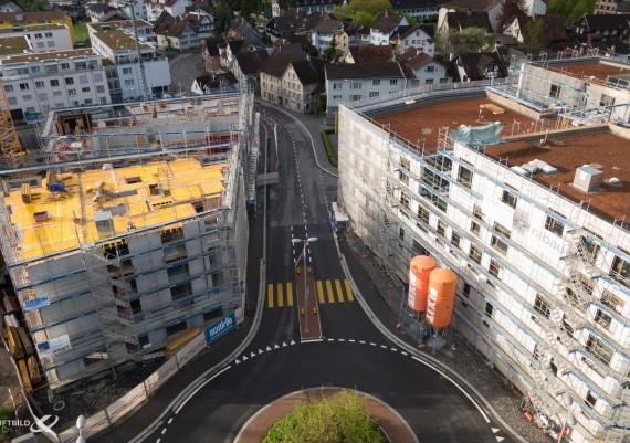 Luftaufnahme Baustelle Alststätten, St. Gallen