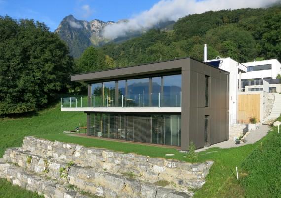 Luftaufnahme M+M Architektur, Rüthi (St. Gallen)