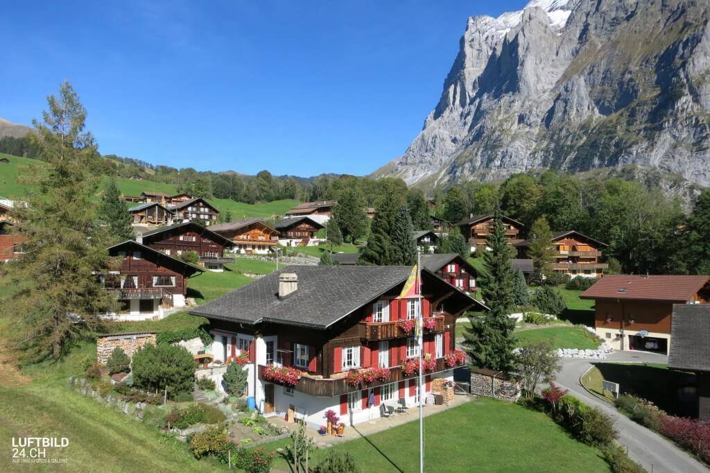 Luftaufnahme Ferienhaus Jungfrauregion