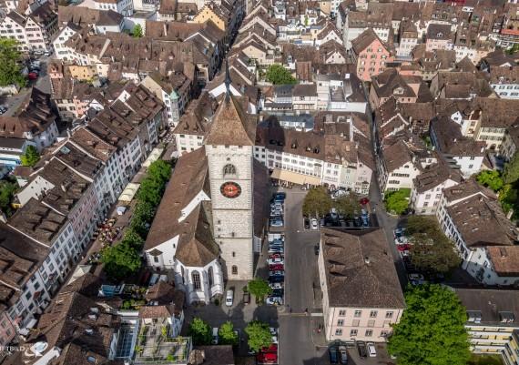 Luftaufnahme Hotel Kronenhof, Schaffhausen